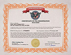 FDA Food Registration Certificate