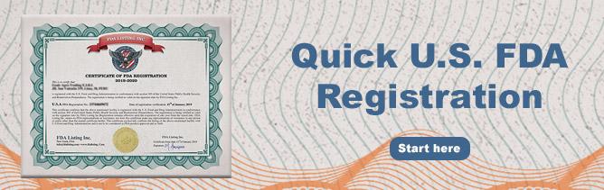FDA Registration Quick Link